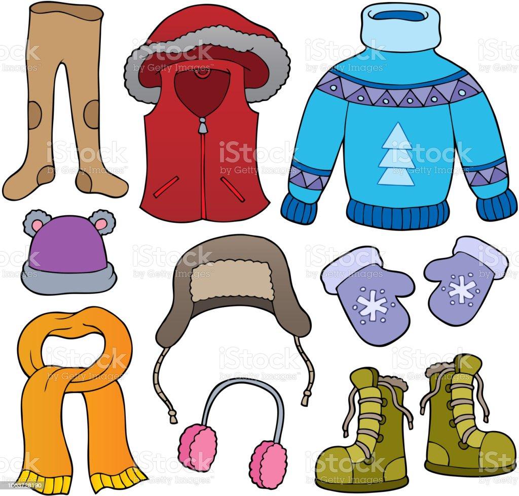 efad5aedd8c9 Winter clothes topic set 2 royalty-free winter clothes topic set 2 stock  vector art