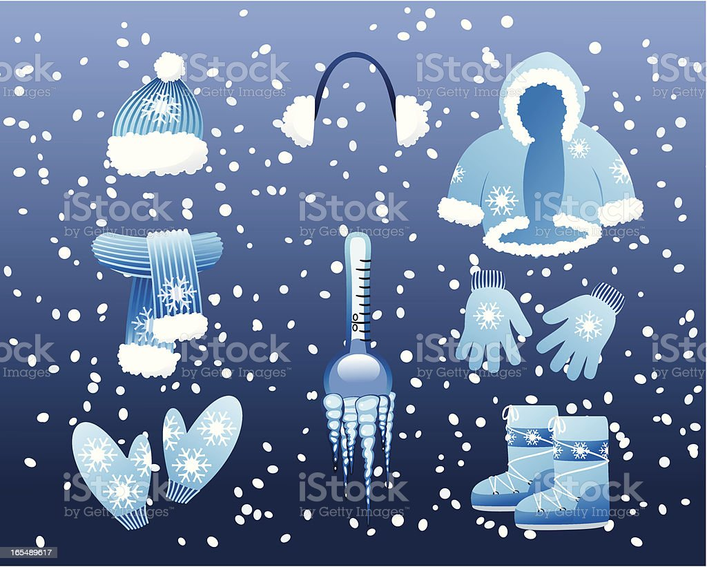 Winter clothes royalty-free winter clothes stock vector art & more images of boot