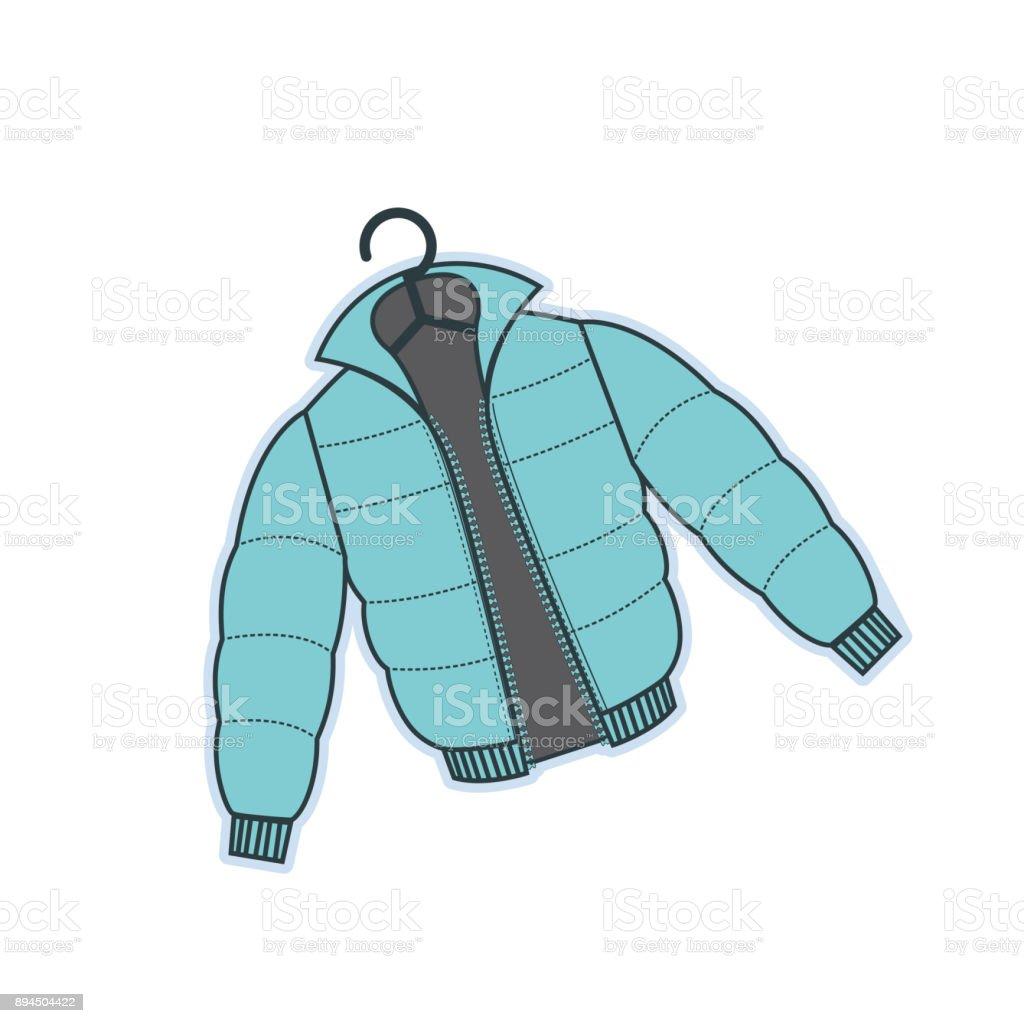 Winter Clothing vector art illustration