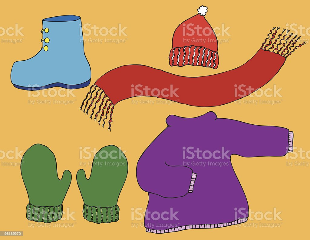 winter clothing royalty-free winter clothing stock vector art & more images of boot