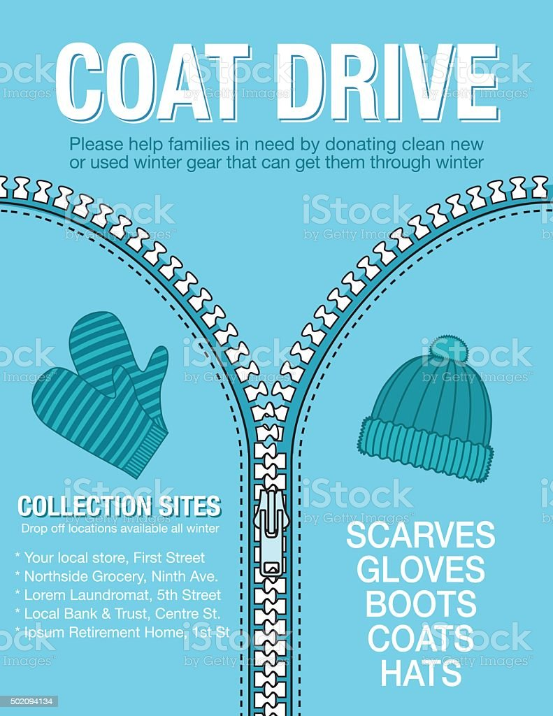 Winter Coat Drive Charity Poster Template. Royalty Free Winter Coat Drive  Charity Poster Template  Clothing Drive Flyer Template