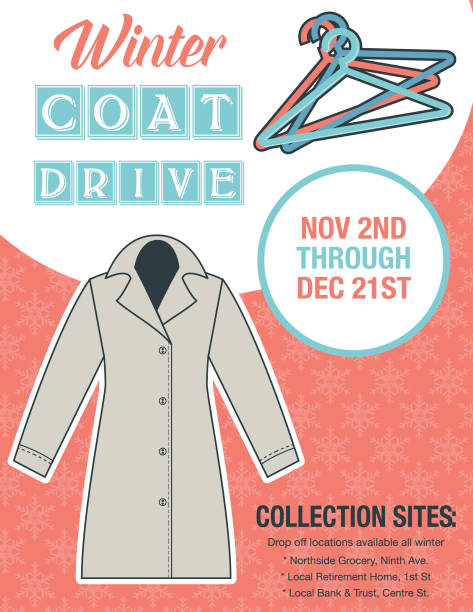Royalty Free Coat Drive Clip Art, Vector Images & Illustrations - iStock