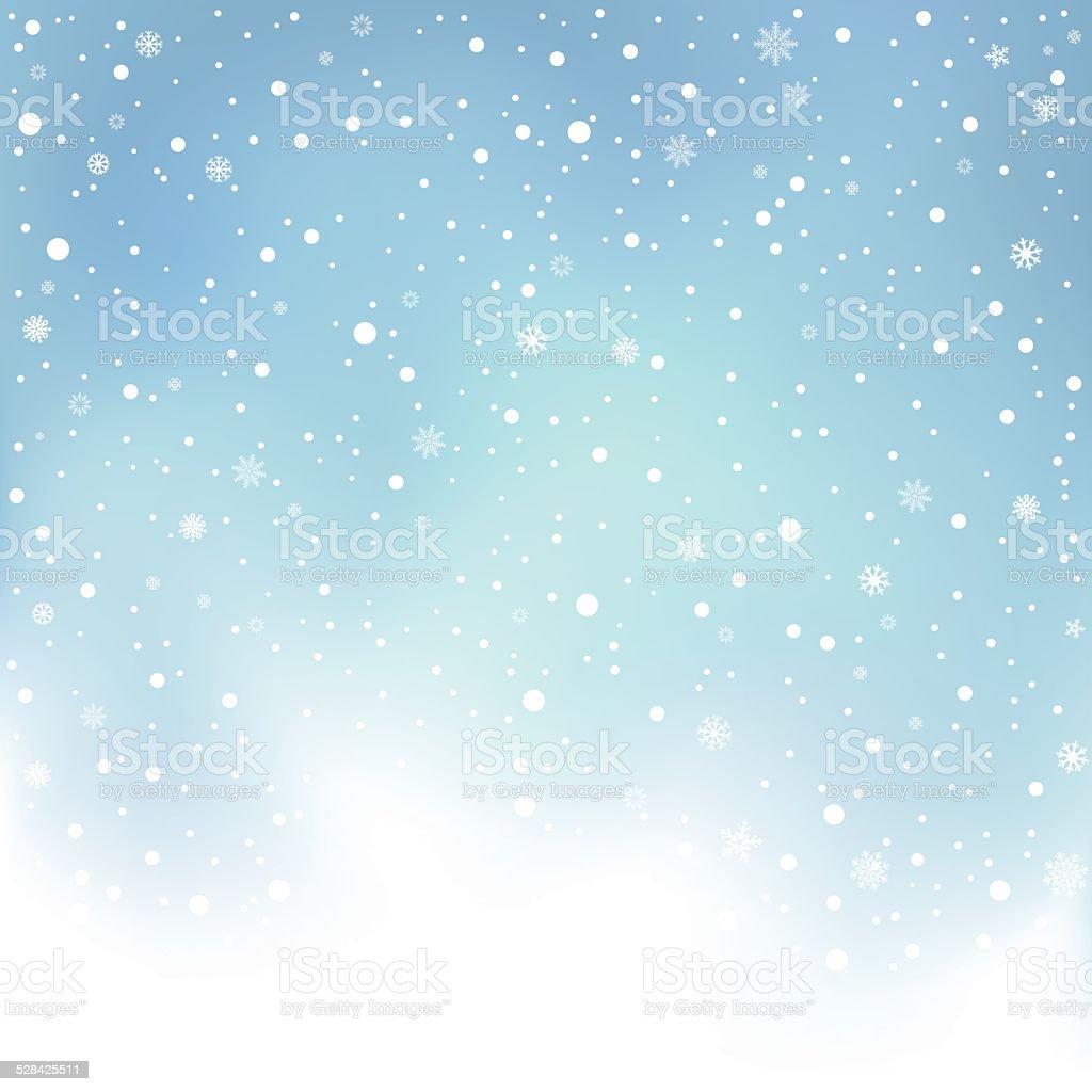 winter day snow background vector art illustration