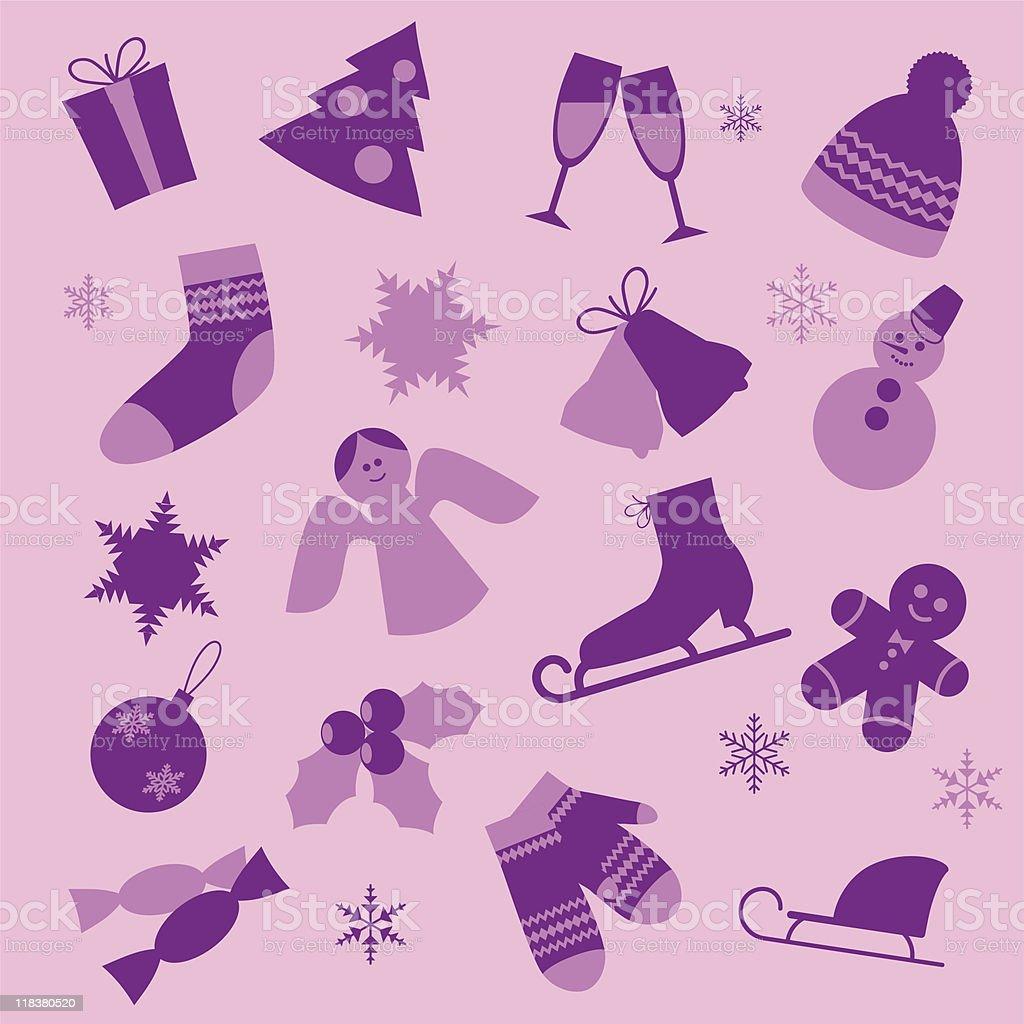 Winter design elements. royalty-free stock vector art
