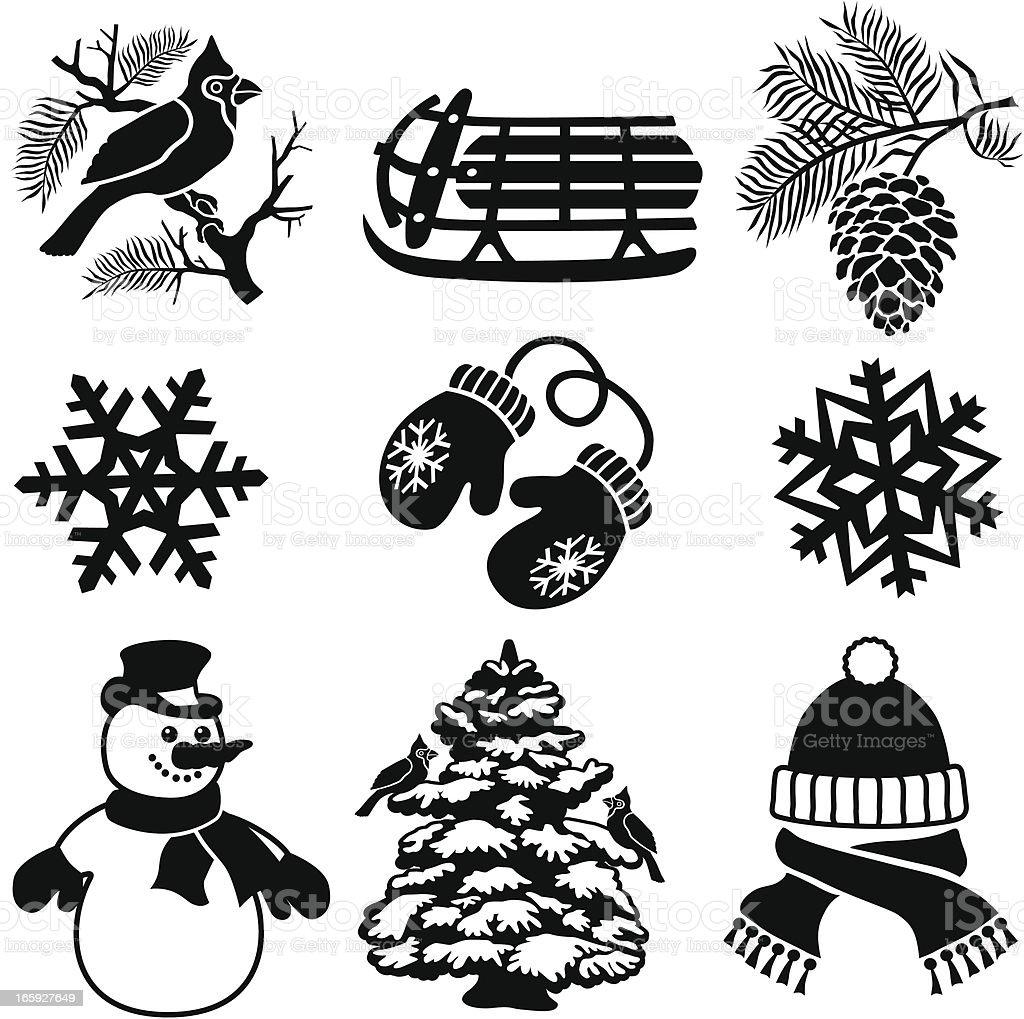 Winter design elements royalty-free stock vector art