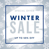 Winter design for advertising, banners, leaflets and flyers. - Illustration