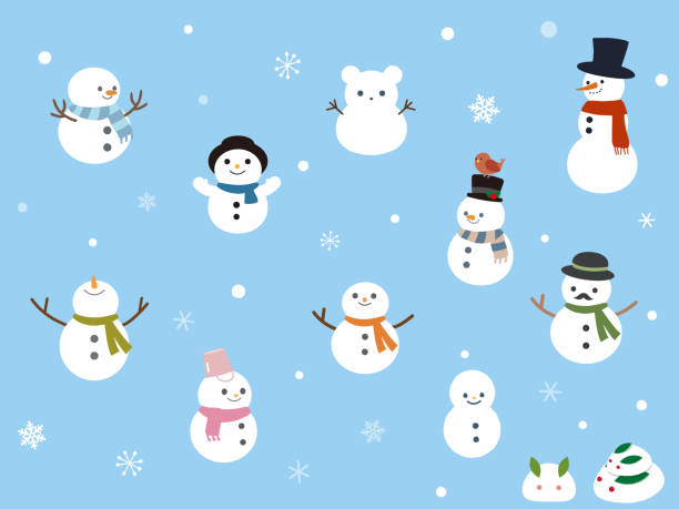 Winter Design2 Winter Design snowman stock illustrations