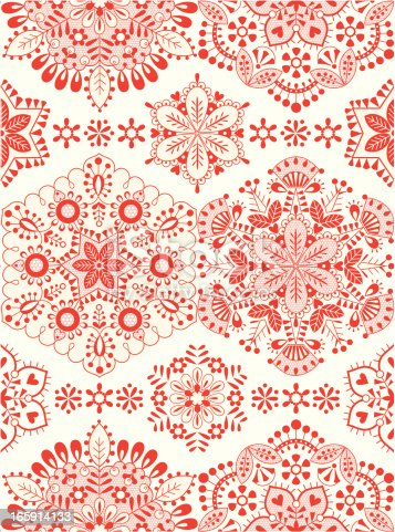 istock Winter embroidery 165914133