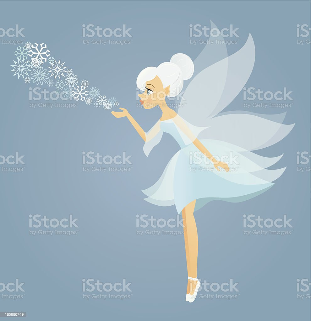 Winter Fairy vector art illustration