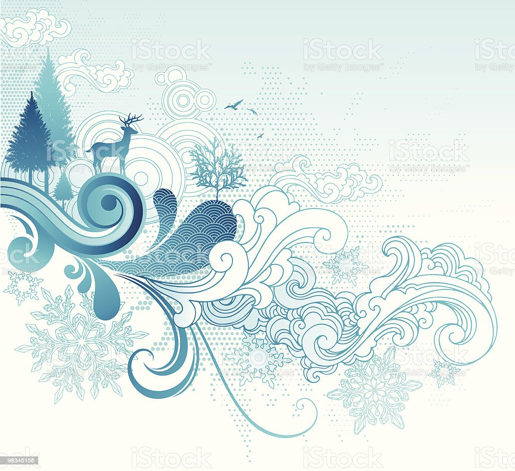 Winter Flow royalty-free winter flow stock vector art & more images of backgrounds