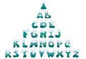large snow-covered capital letters of the English alphabet