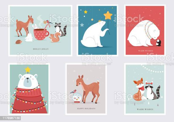 Winter forest animals merry christmas greeting cards posters with vector id1176987130?b=1&k=6&m=1176987130&s=612x612&h=v4jp5ccgvuxhw1aqgys8j4gx3x 3ylkkowyhy70i4je=