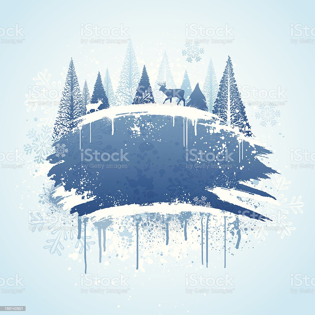Winter forest grunge design royalty-free winter forest grunge design stock vector art & more images of abstract
