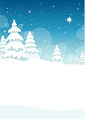 winter,holiday,Christmas,trees,snow,night,star,forest,landscape