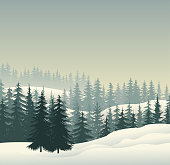 drawing of vector snowcapped scenic.This file was recorded with adobe illustrator cs4 transparent.EPS10 format.