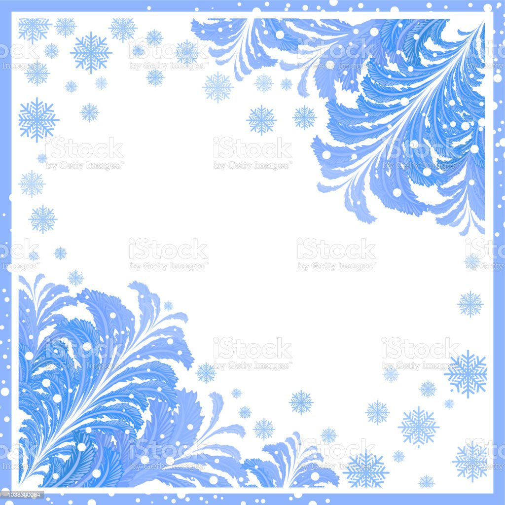 Winter Frame With Ice Patterns Stock Vector Art & More Images of ...