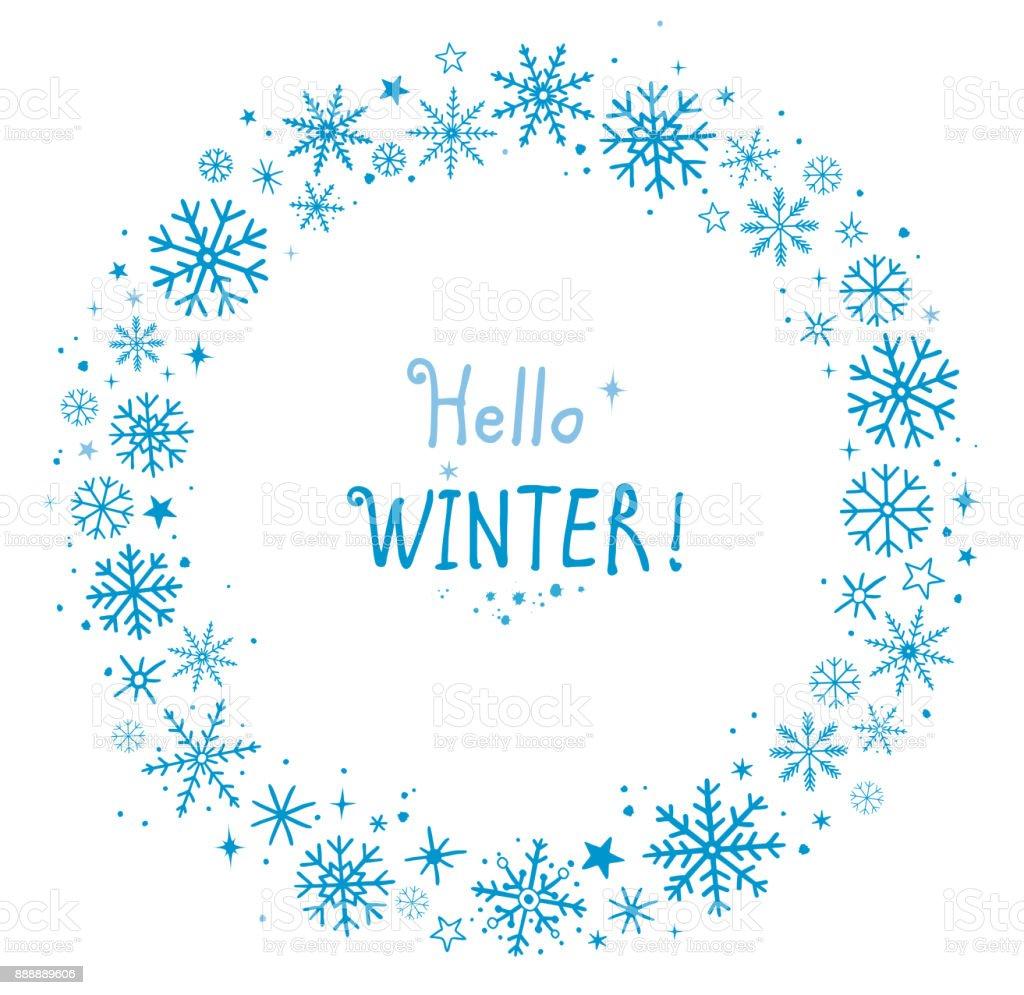 雪の結晶冬フレーム いたずら書きのベクターアート素材や画像を多数ご