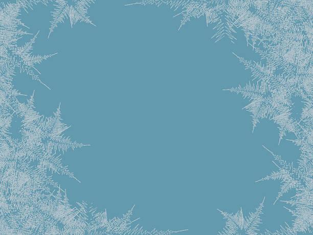 겨울 서리가 내린 창 배경. 유리에 동결 및 바람 - 서리 stock illustrations