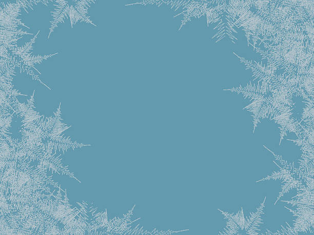 Winter frosted window background. Freeze and wind at the glass Winter frosted window background. Freeze and wind at the glass. Vector illustration ice stock illustrations