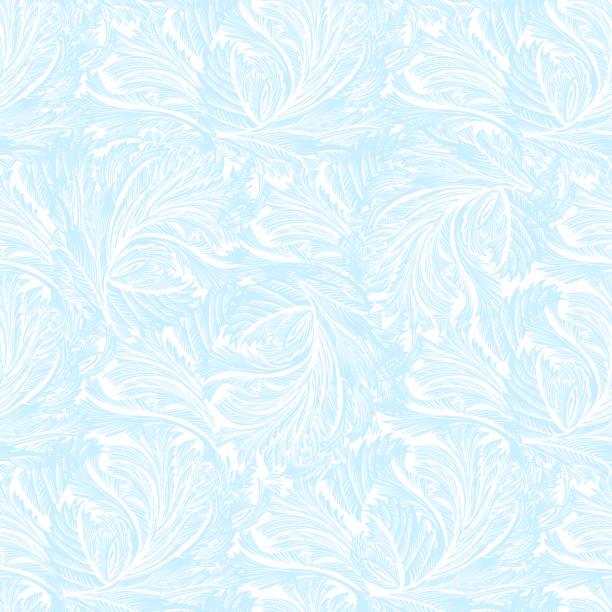 illustrazioni stock, clip art, cartoni animati e icone di tendenza di winter frozen glass light blue seamless pattern. - gelato confezionato