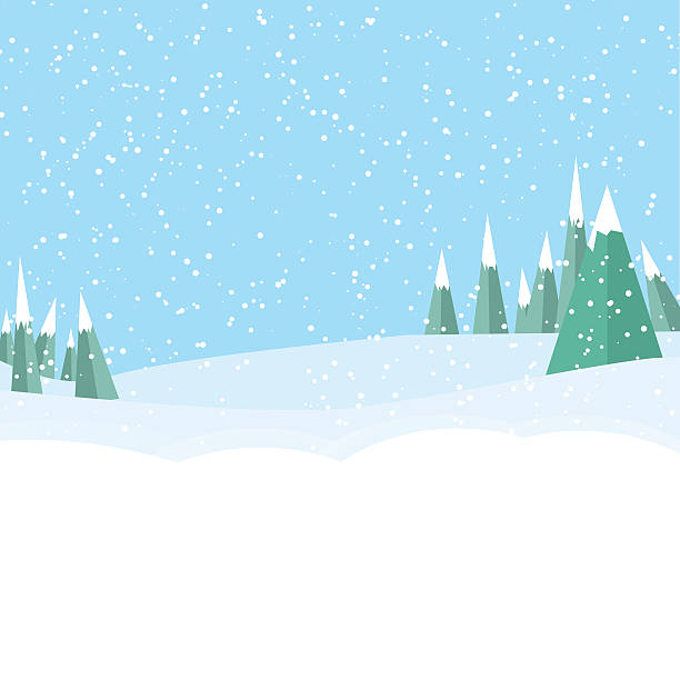 winter game landckape background - holiday backgrounds stock illustrations, clip art, cartoons, & icons
