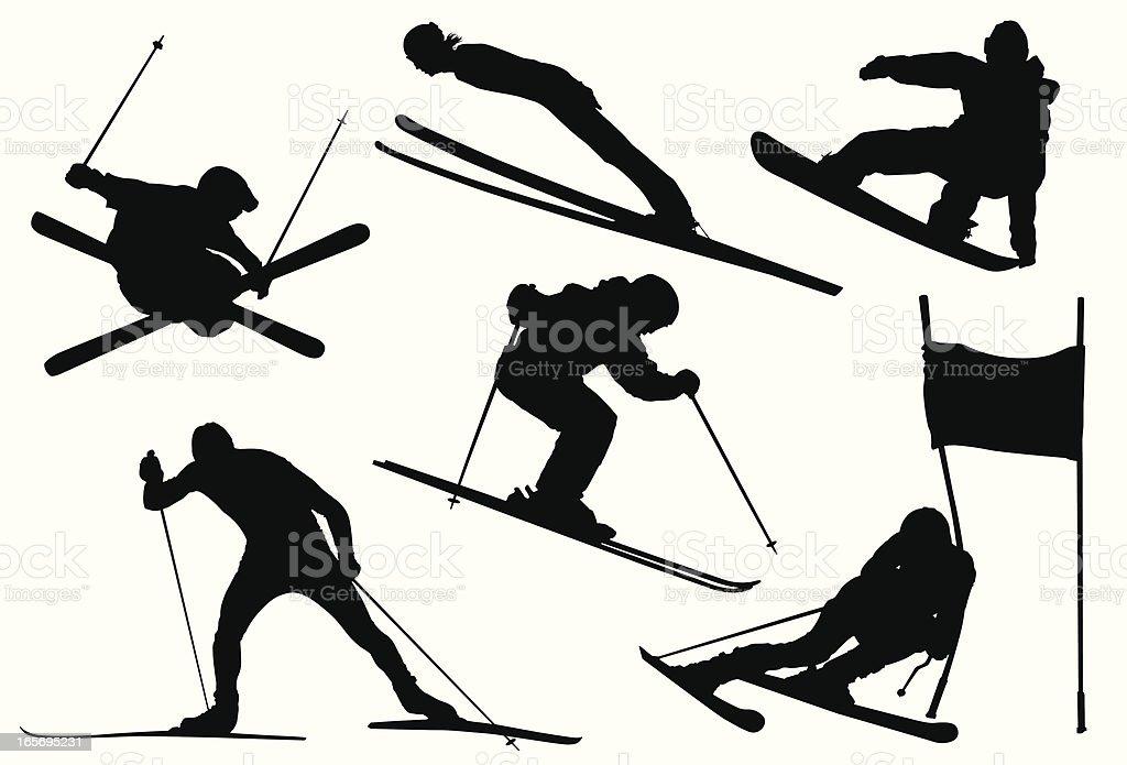 Winter . Games vector art illustration