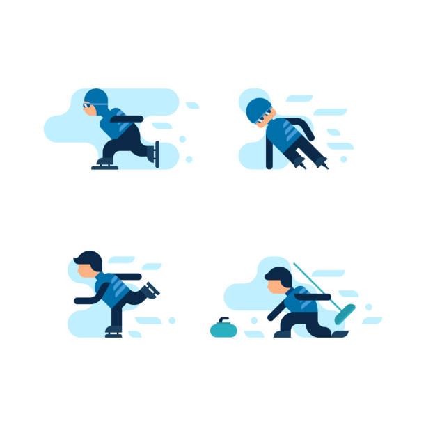 Winterspiele – Vektorgrafik
