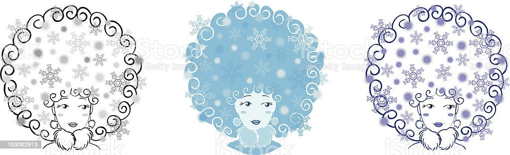 Winter girl royalty-free winter girl stock vector art & more images of abstract