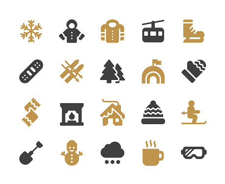 Winter Glyph Icons. Pixel Perfect. For Mobile and Web. Contains such icons as Winter, Season, Snow, Skiing, Christmas, Christmas Tree, Snowman, Hot Drink, Skates, Jacket, Coat, Snowboard, Hut, Skis, Goggles, Skates.