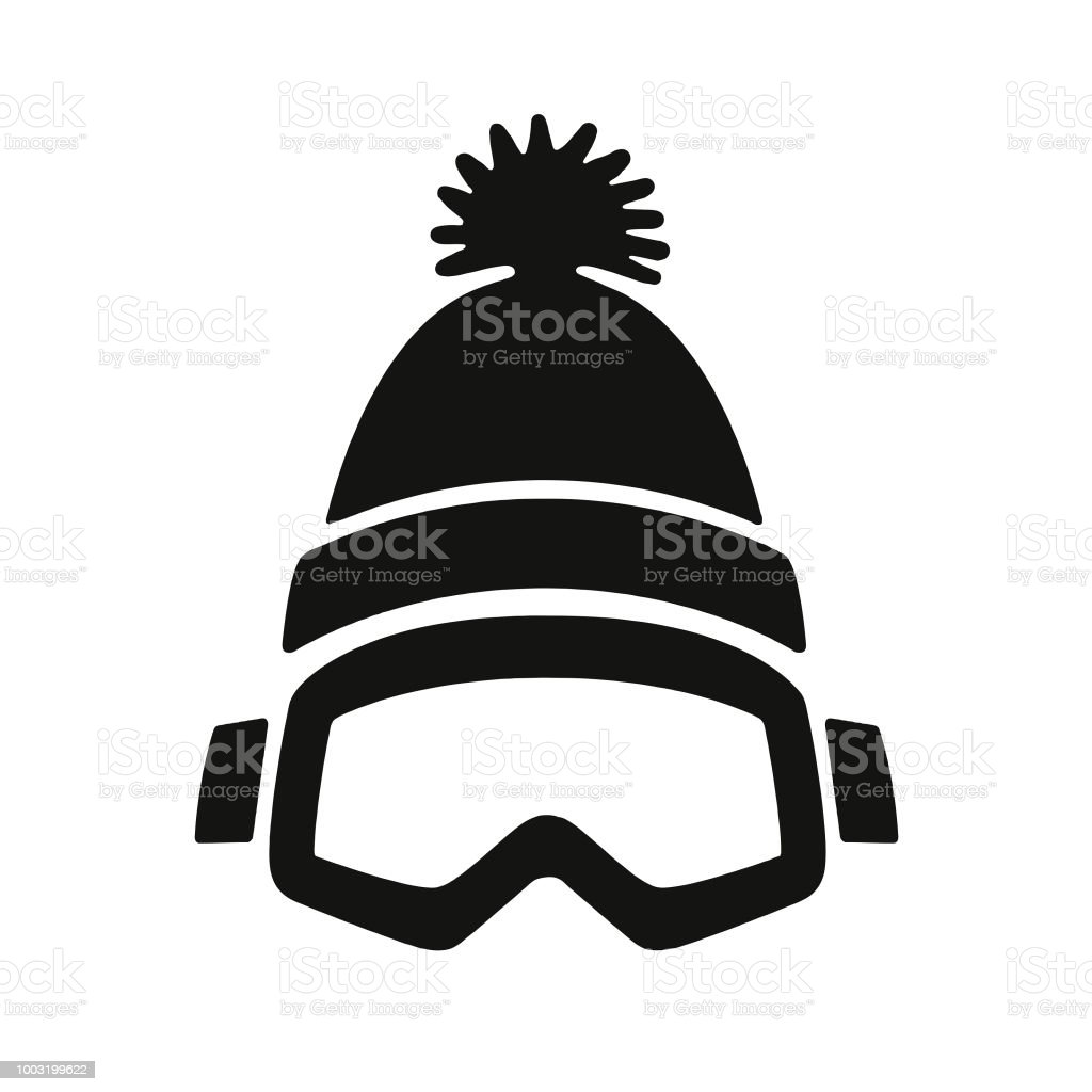 f76fd466566c Winter Goggles and Cap royalty-free winter goggles and cap stock vector art   amp