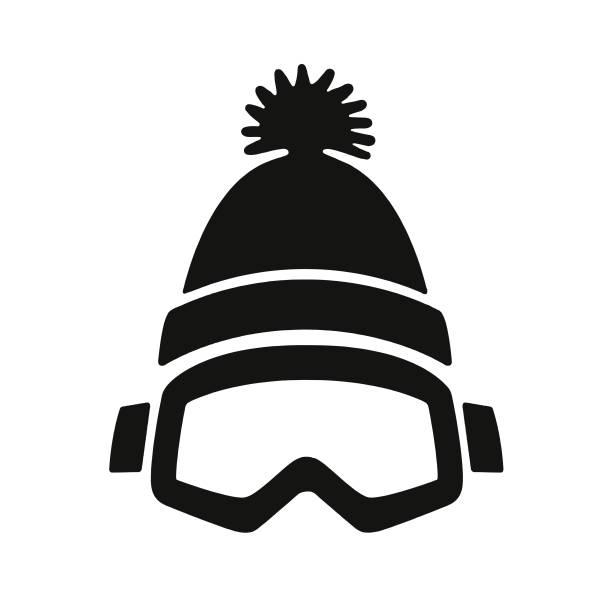 illustrazioni stock, clip art, cartoni animati e icone di tendenza di winter goggles and cap - ski