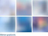 Winter gradients set
