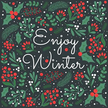 Winter greeting card.