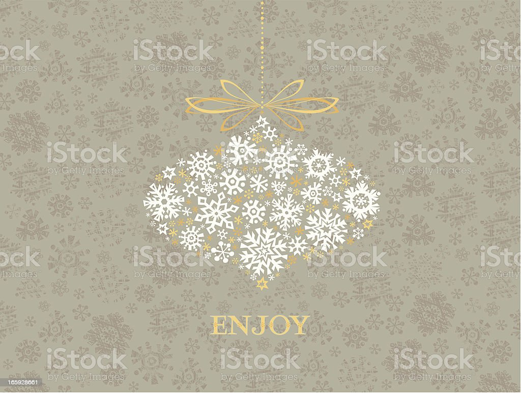 Winter Greetings Card royalty-free stock vector art