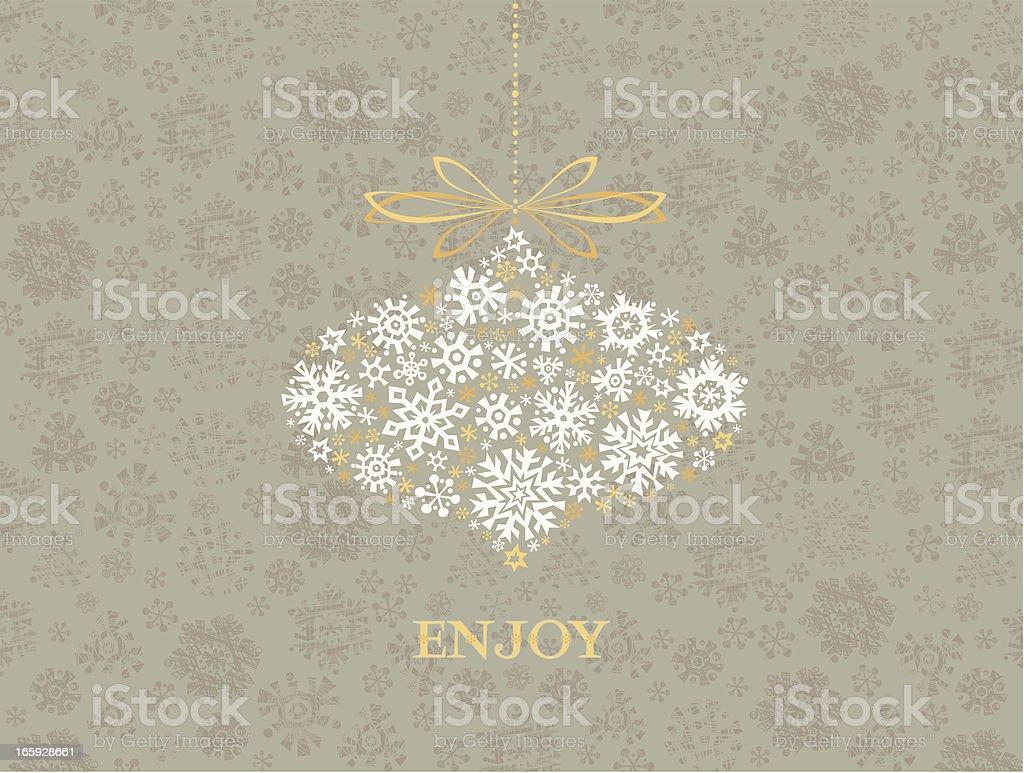 Winter Greetings Card vector art illustration