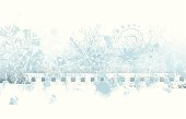 Winter grunge background with copy space