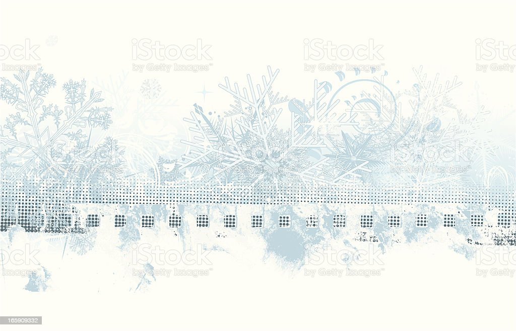 Winter grunge background with copy space vector art illustration