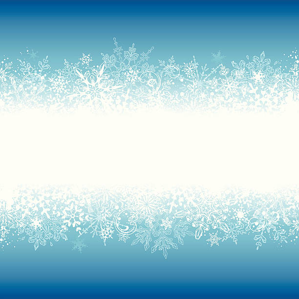 Winter Grunge Banner vector art illustration