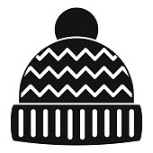 Winter hat icon, simple style