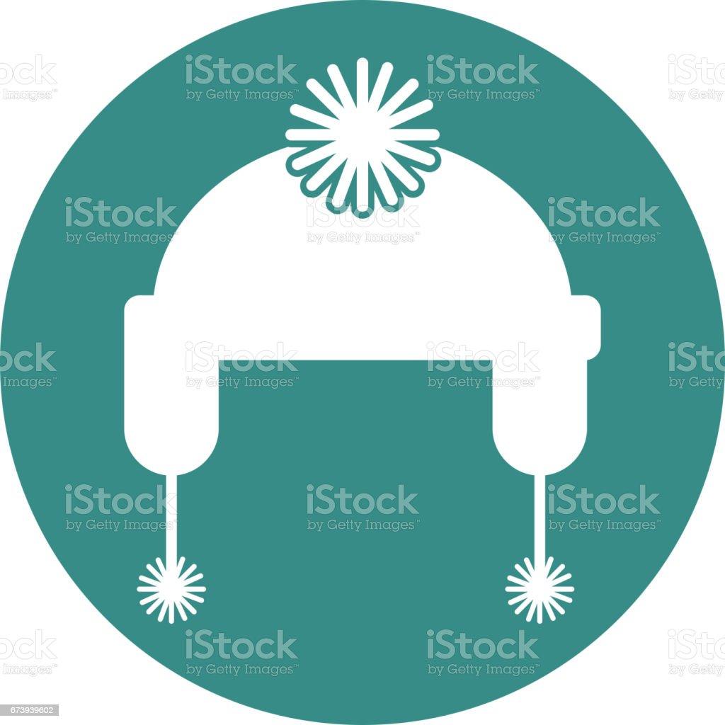 icône isolé de chapeau hiver icône isolé de chapeau hiver – cliparts vectoriels et plus d'images de accessoire libre de droits