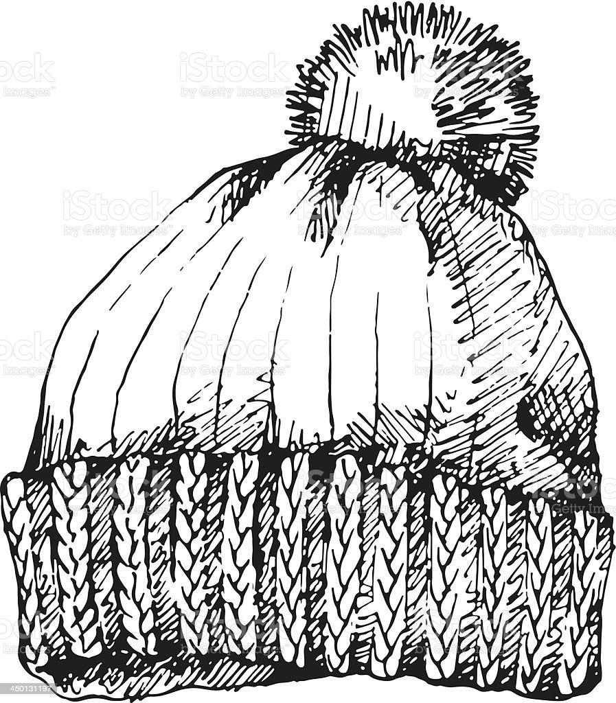 Winter Hat vector art illustration