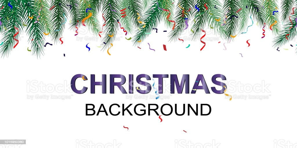 winter holiday background border with christmas tree branches and ornaments seamless new year background
