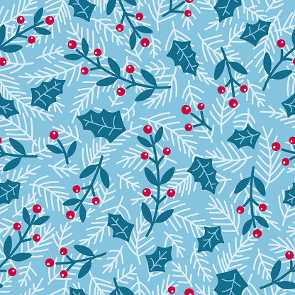 Winter holiday blank seamless background
