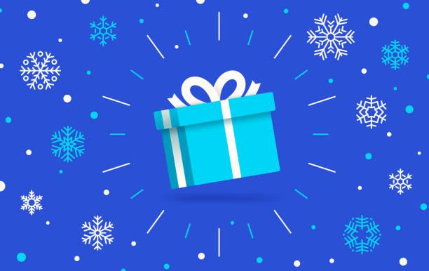 prezent na zimowy wypoczynek - gift stock illustrations