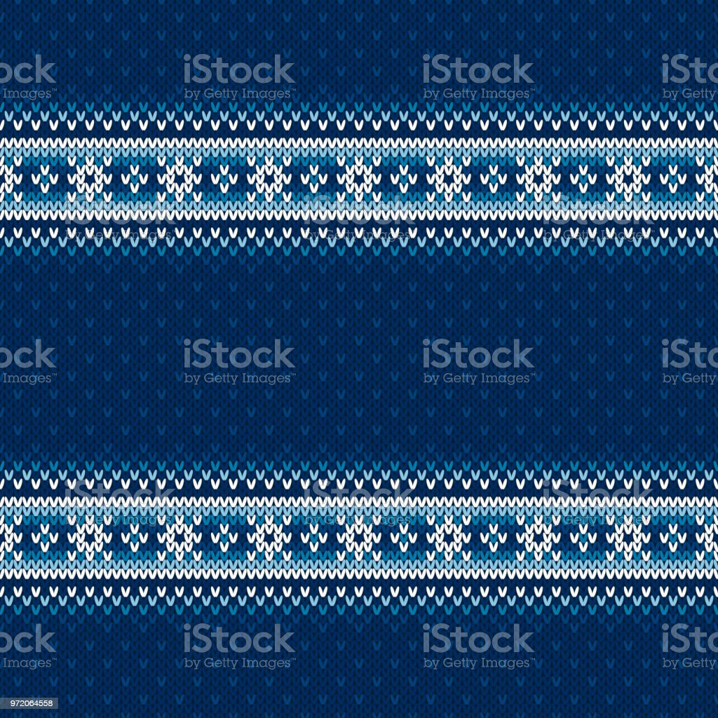 Winter Holiday Knitted Seamless Background with a Place for Text. Wool Knit Sweater Texture Imitation vector art illustration