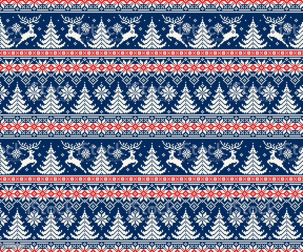 Embroidered Holiday Deer and Tree Sweatshirt