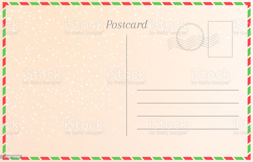 winter holiday postcard with snowfall new year greeting card template royalty free winter
