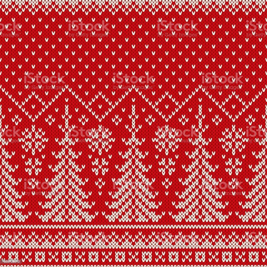 winterurlaub nahtlose strickmuster mit einem weihnachten bume und schneeflocken stricken pullover design wolle gestrickte - Strick Muster