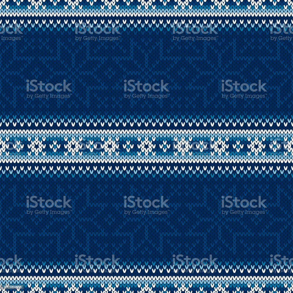Winter Holiday Seamless Knitted Background with a Place for Text. Wool Knit Sweater Texture Imitation vector art illustration