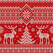 Seamless Pattern on the Wool Knitted Texture. EPS available